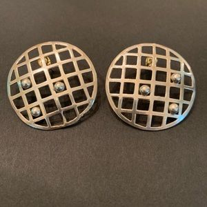 Vintage circle cage earrings